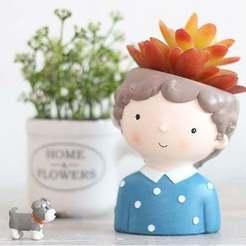 il_794xN.1965414735_1viw.jpg Download OBJ file Decoration planter Cute boy 2 of 4 for 3D print - STL m • 3D print model, FabioDiazCastro