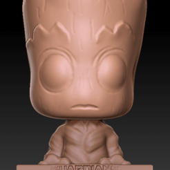 Download STL files Groot phone holder - guardians of the galaxy 3D print model, FabioDiazCastro