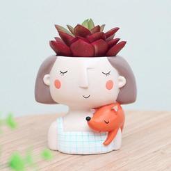 il_794xN.1869713642_a2xq.jpg Télécharger fichier OBJ Décoration Pot Cute Girl stl pour impression 3D modèle 3D • Objet pour imprimante 3D, FabioDiazCastro