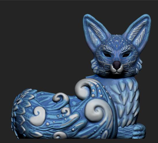 Imagen2.png Download OBJ file Night Forest Fern Fox Planter - STL for 3D Printing • 3D print model, FabioDiazCastro