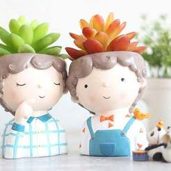il_794xN.1917870768_n0lr.jpg Download OBJ file Decoration planter Cute boy 3 of 4 for 3D print - STL • 3D print model, FabioDiazCastro