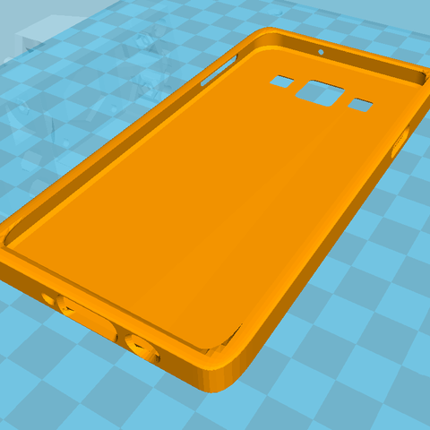 Free 3d printer designs Samsung Galaxy A3 Cover, Simdid