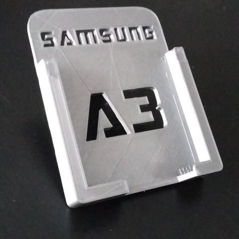 20170115_124813.jpg Télécharger fichier STL gratuit Support auto pour Samsung A3 • Objet imprimable en 3D, Simdid