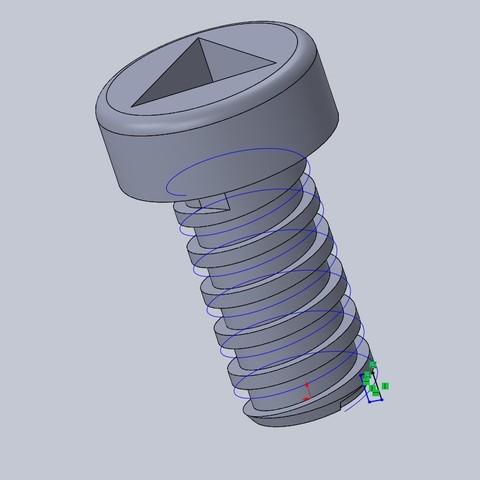 Free 3D printer files Junior meccano screws, 14pv44