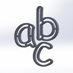 Download free STL file TAKE PIECE LETTER SMALL • 3D printable design, 14pv44