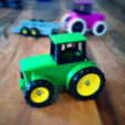 Free stl John Deere Tractor and Trailer, Supeso