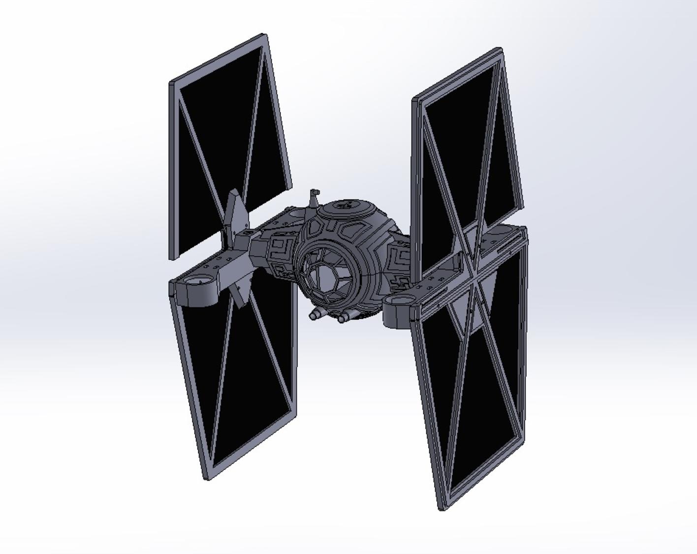 Capture d'écran 2017-06-16 à 17.56.26.png Download free STL file StarWars TieFighter Gen1  • 3D printable template, Supeso