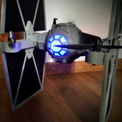 Capture d'écran 2017-06-16 à 17.56.16.png Download free STL file StarWars TieFighter Gen1  • 3D printable template, Supeso