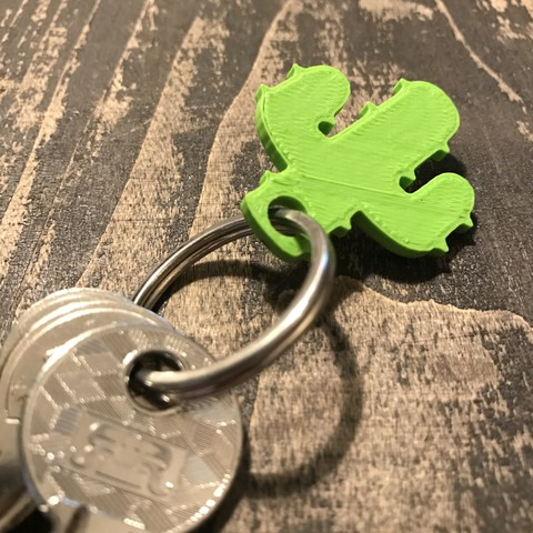 6.JPG Download free STL file Cactus keychain or pendant • 3D printing model, Free-3D-Models
