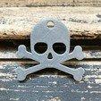 Free 3d printer designs Skull keychain, Free-3D-Models