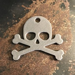 Free 3d printer designs Skull keychain, Free-3D-Models