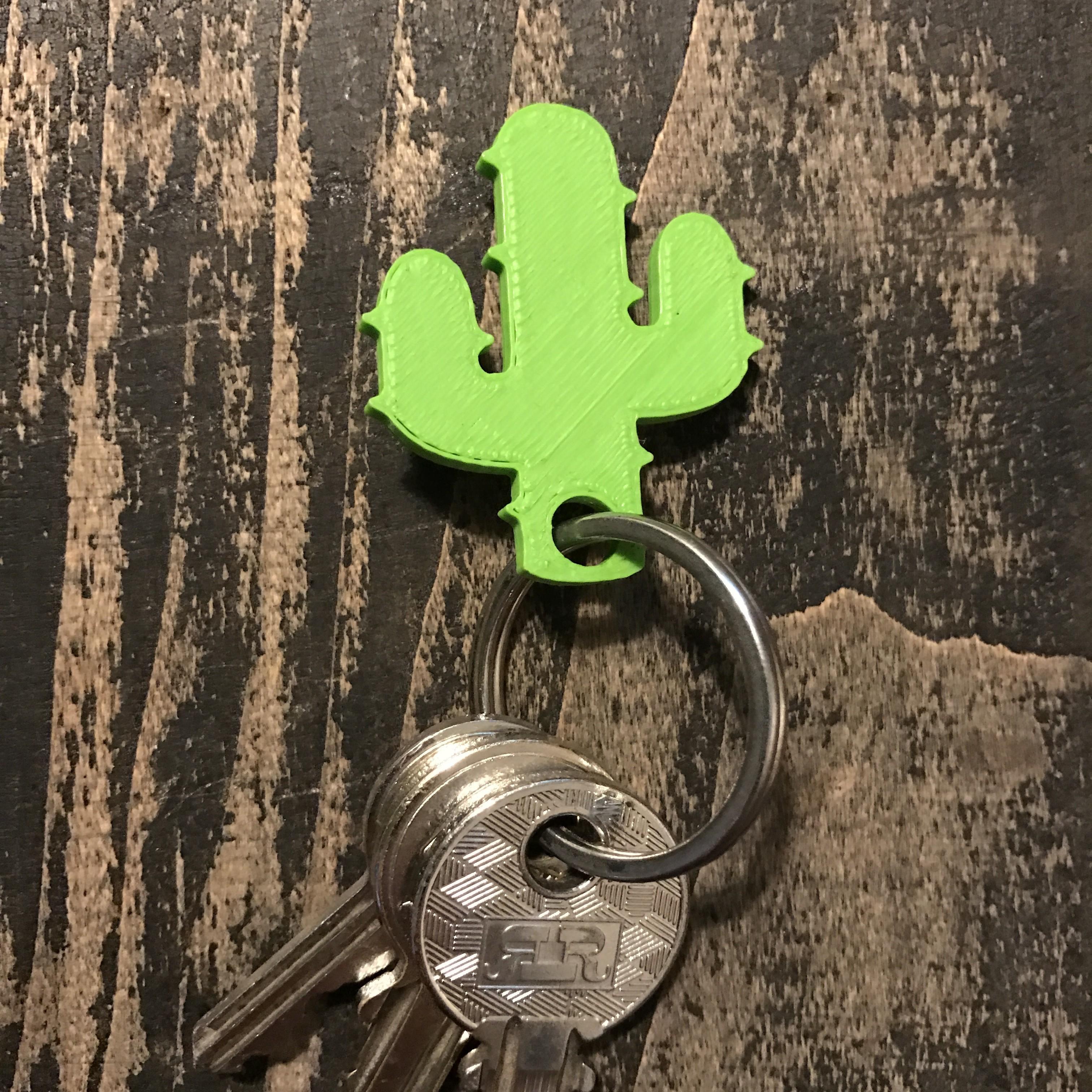 5.JPG Download free STL file Cactus keychain or pendant • 3D printing model, Free-3D-Models
