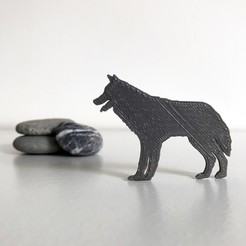 Download free 3D printer model Wolf, Free-3D-Models