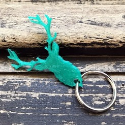 Free 3d printer designs Deer key holder, Free-3D-Models