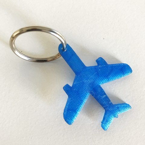 Free 3d printer designs Plane keychain or pendant, Free-3D-Models