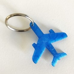 1.JPG Download free STL file Plane keychain or pendant • 3D printing design, Free-3D-Models