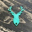 Free Deer key holder STL file, Free-3D-Models