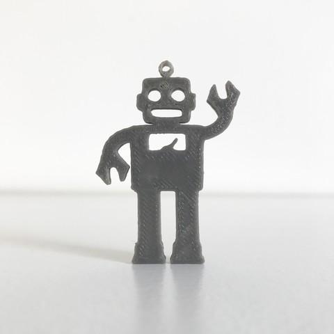 Download free 3D printing models Robot pendant, Free-3D-Models