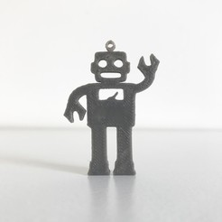 Download free 3D printing models Robot pendant, Free-3D-Models
