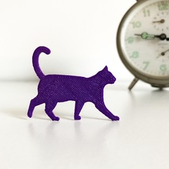 Free 3D printer file Cat, Free-3D-Models