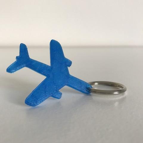2.JPG Télécharger fichier STL gratuit Porte-clés ou pendentif avion • Modèle à imprimer en 3D, Free-3D-Models