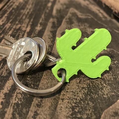 2.JPG Download free STL file Cactus keychain or pendant • 3D printing model, Free-3D-Models
