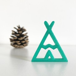 Download free 3D printing designs Indian teepee, Free-3D-Models