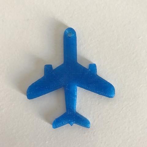 5.JPG Télécharger fichier STL gratuit Porte-clés ou pendentif avion • Modèle à imprimer en 3D, Free-3D-Models