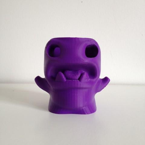 Impresiones 3D gratis lápiz monstruo Pot, Free-3D-Models