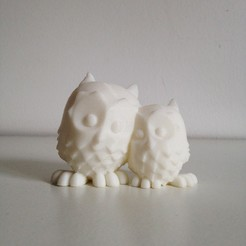Download free STL files Cuddling Owls, Free-3D-Models