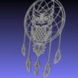 STL Owl dream Catcher (Buho, lechuza, atrapasueños). Arte 2D., RomainYoth