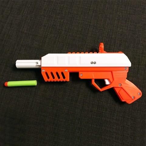 nerf.jpg Download free STL file Foam Dart GUN (pullback loading) • 3D print design, senns