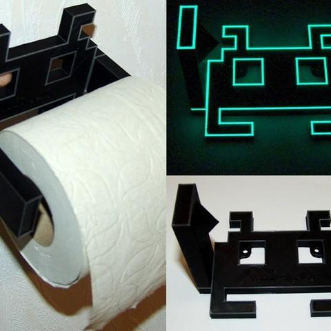 Descargar archivos STL gratis Space Invader Papel higiénico Roll Holder, JoOngle