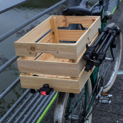 Download free 3D printing models Holder for bicycle rear lights Wooden box Ikea, vanson
