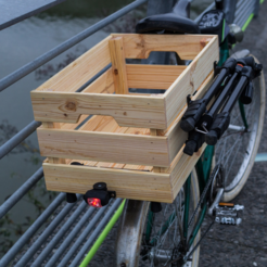 Modelos 3D gratis Montaje de la bici luces traseras en una caja de madera de Ikea, vanson