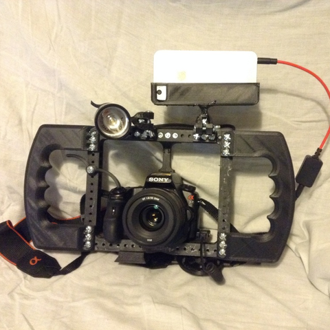 Download free 3D printing designs Cage modular DSLR, vanson