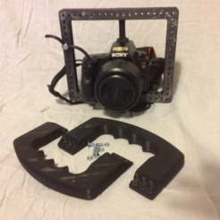 Free 3D printer files Handle for Cage modular DSLR, vanson