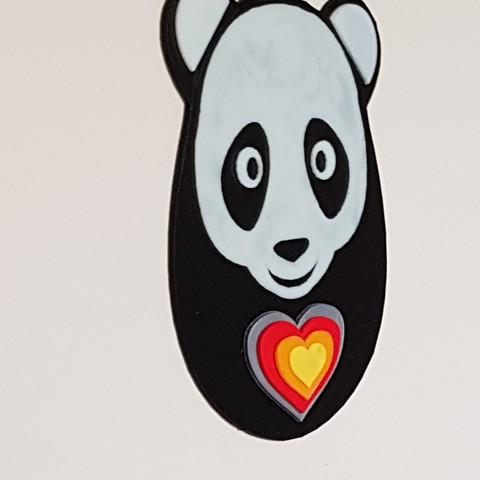 20170804_101103.jpg Download STL file panda hearts decoration • 3D printer template, catf3d