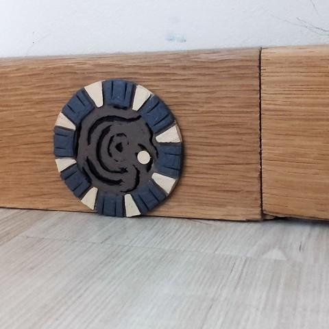Free 3D printer model miniature round door, catf3d