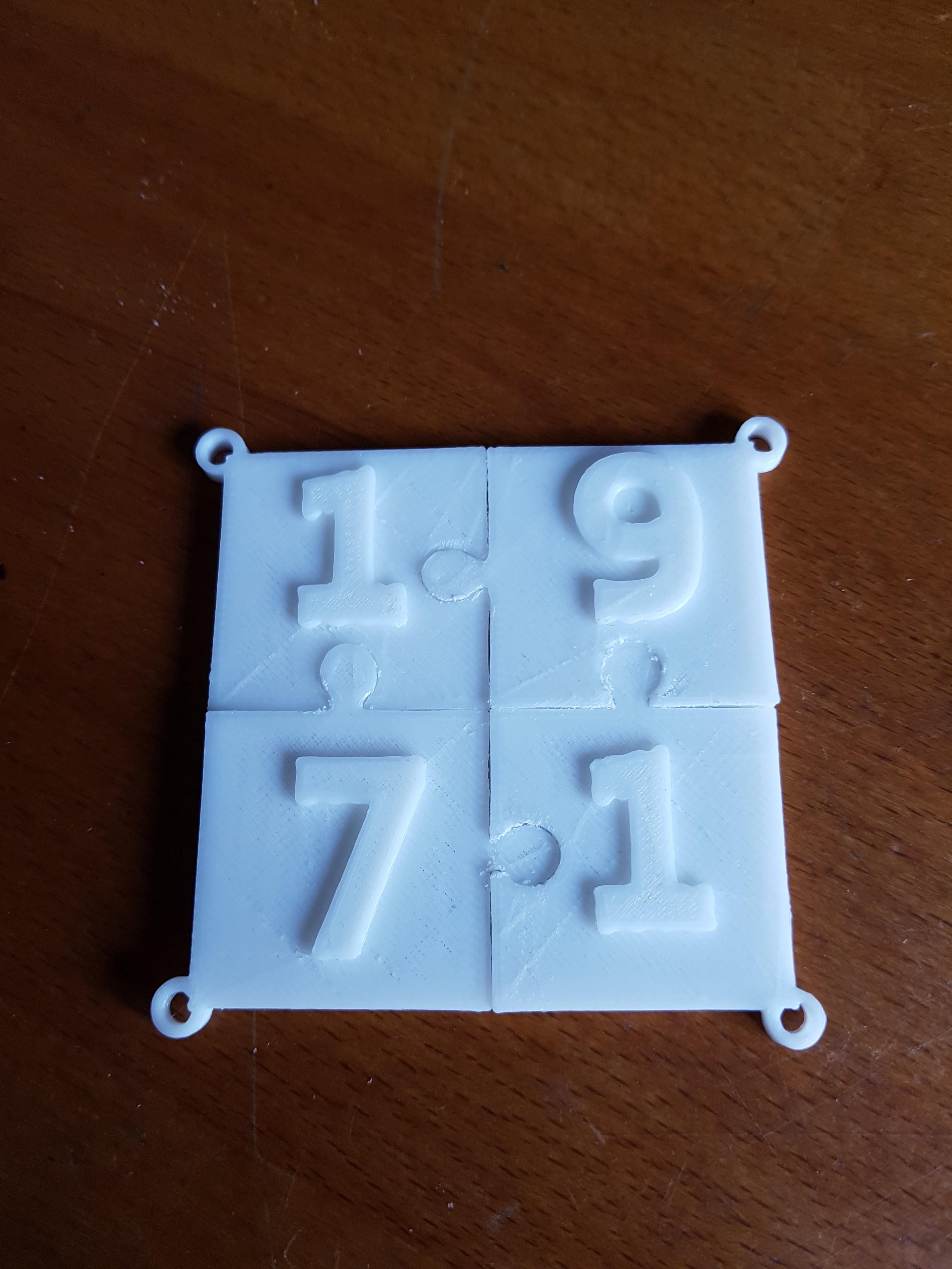 20180324_115230.jpg Download STL file puzzle key ring • 3D printing design, catf3d