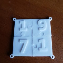 Download 3D printer designs puzzle key ring, catf3d