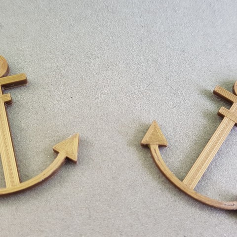 20180813_171218.jpg Download STL file earring marine anchor • Object to 3D print, catf3d