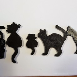 Download free 3D printing templates Figurine cats, catf3d
