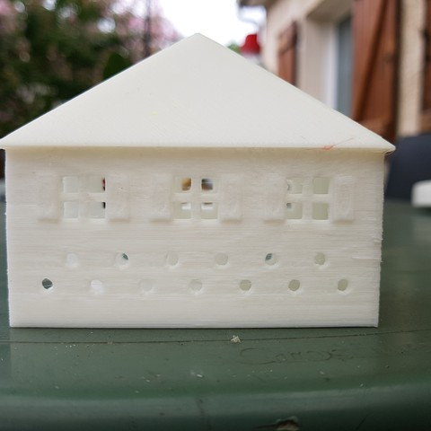 20170804_160541.jpg Download STL file SMALL ILLUMINATED HOUSE • 3D printable template, catf3d
