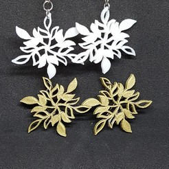 STL file Snow star earring, catf3d