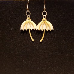 3D printer files umbrella earring, catf3d