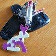 STL files key ring rabbit puzzle key ring, catf3d