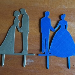"Download 3D printer files cake decoration ""mr & mrs"" , ""mr & mr"" and ""mrs & mrs"" and couples, catf3d"