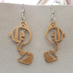 3D print model TEA EARRINGS, catf3d