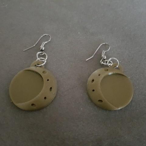 20180203_154946.jpg Download STL file 2 moon earrings • Template to 3D print, catf3d